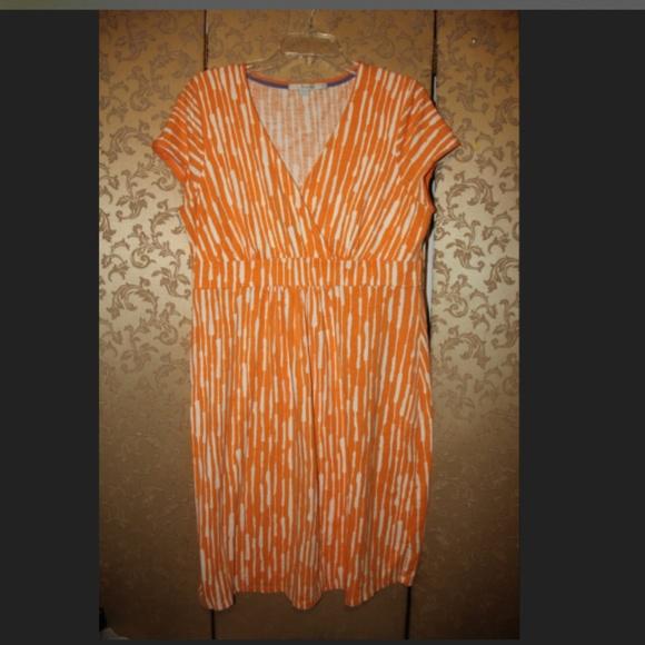 Boden Dresses Orange Multicolor Dress 12 12r Poshmark